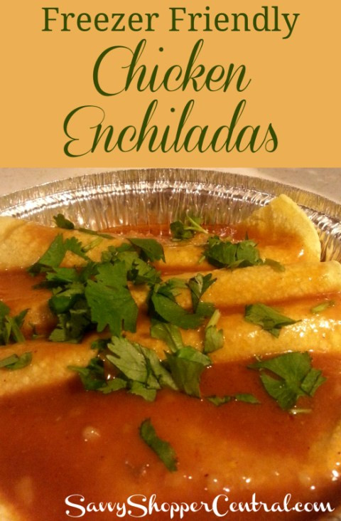 Freezer Chicken Enchiladas  Chicken Enchiladas Freezer Friendly Recipe
