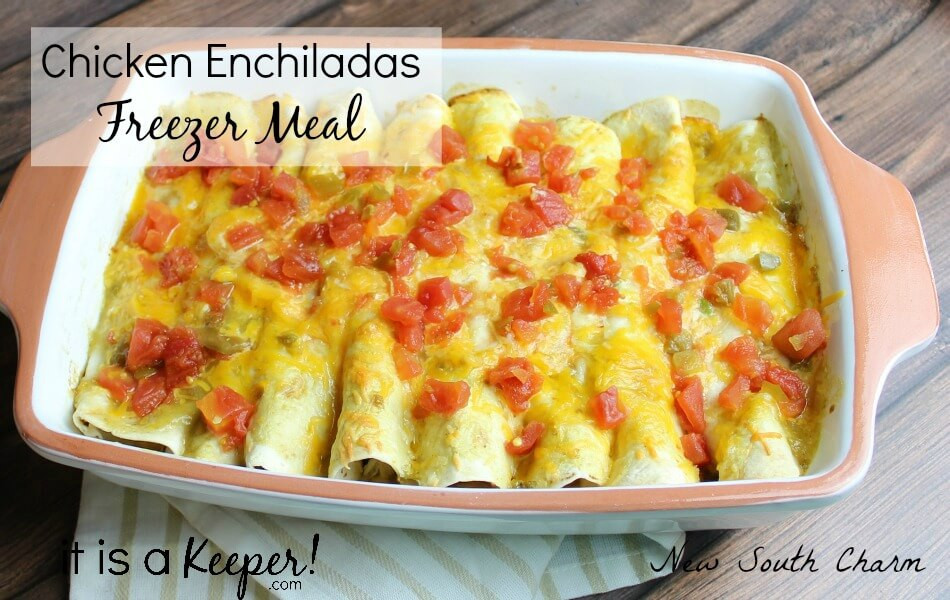 Freezer Chicken Enchiladas  Chicken Enchiladas Freezer Meal