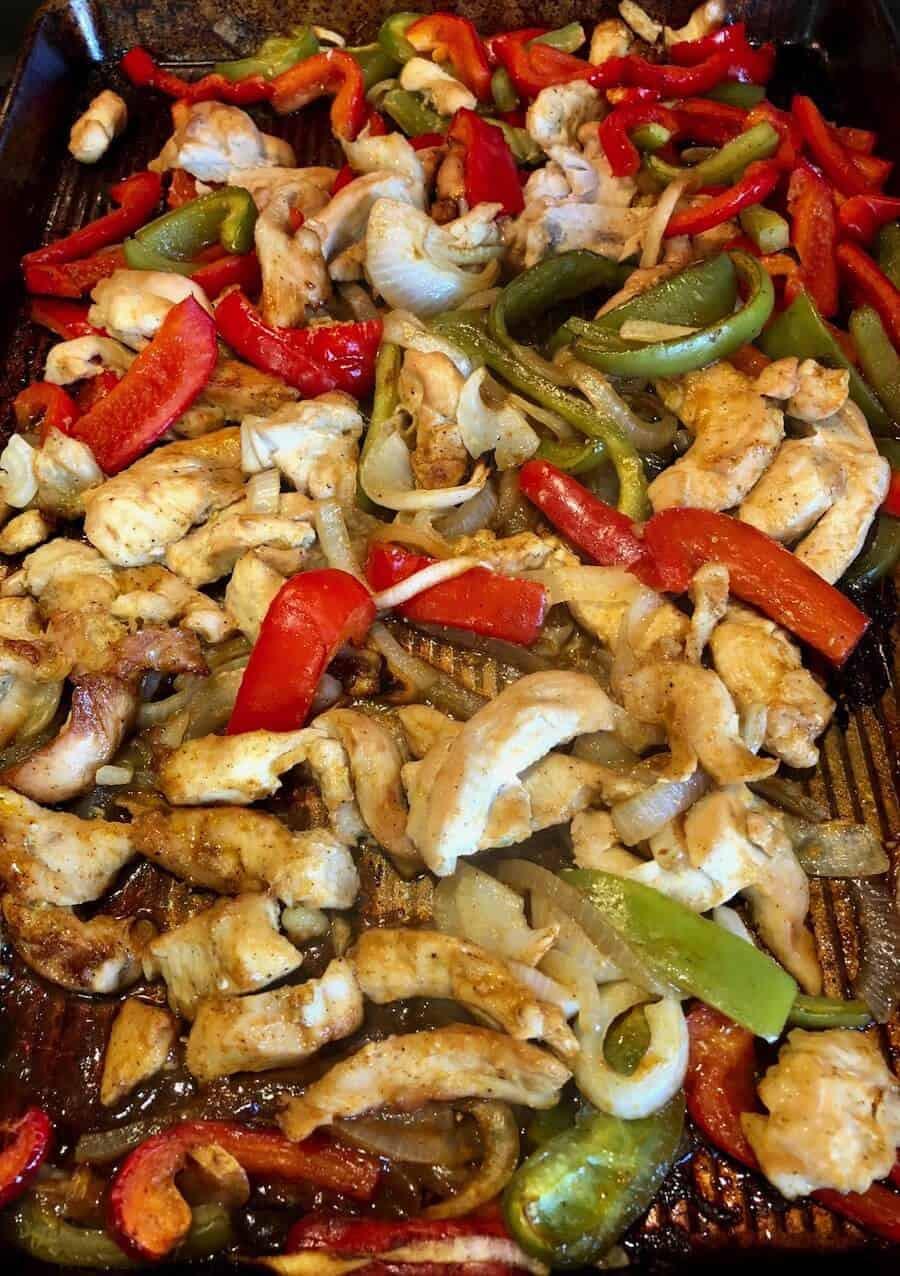 Freezer Chicken Fajitas  Low Carb Chicken Fajitas Sheet Pan and Freezer Meal Recipe