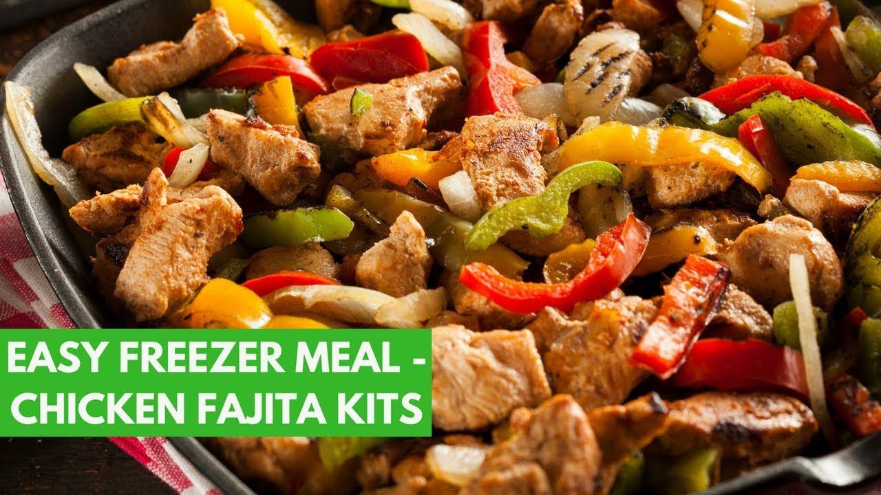 Freezer Chicken Fajitas  EASY Freezer Meal Chicken Fajita Kits