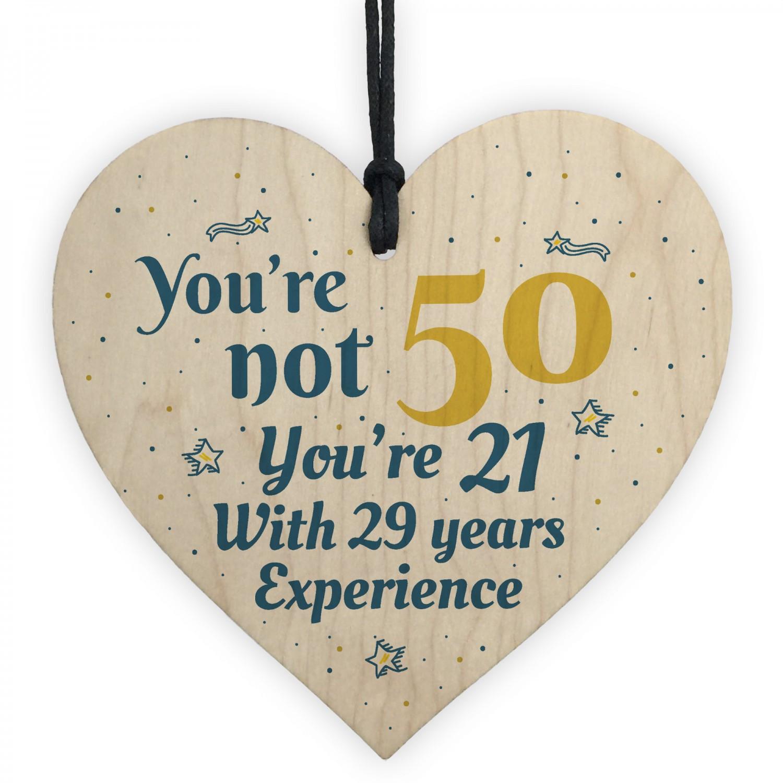 Friend 50Th Birthday Gift Ideas  50th Birthday Gift Wooden Heart 50 For Dad Mum Sister Friend