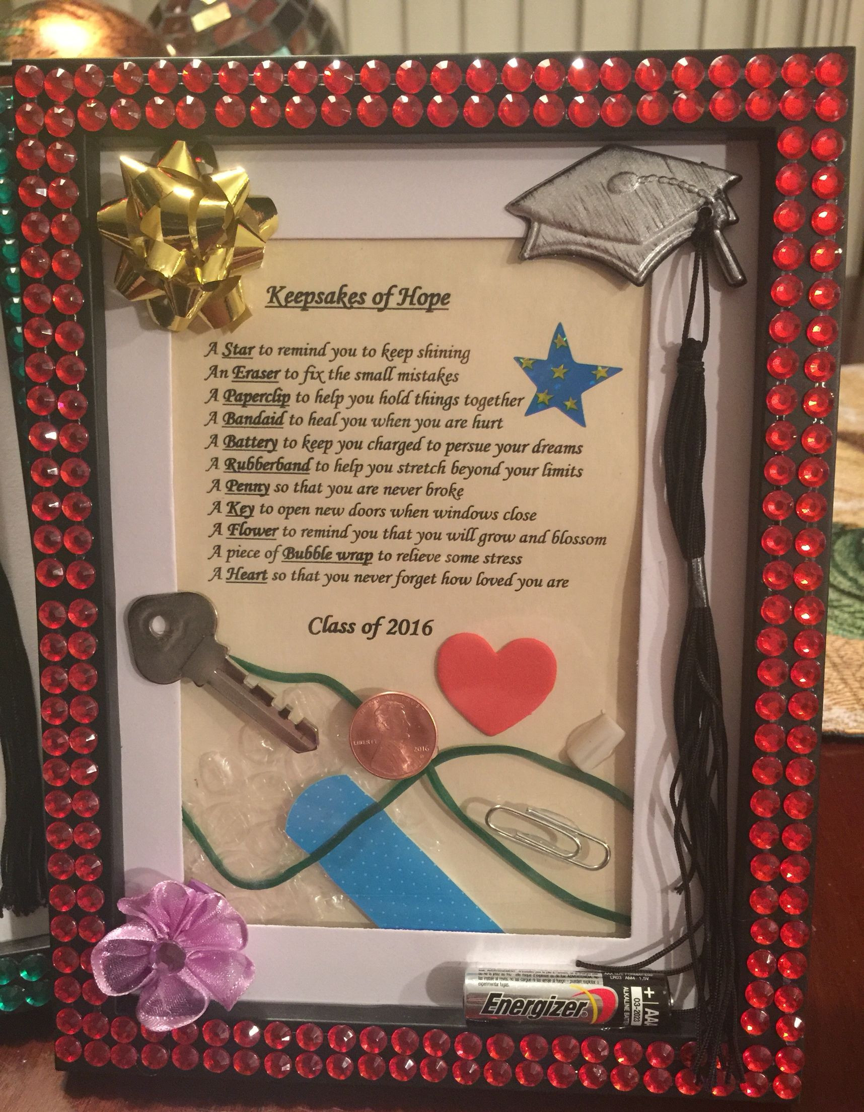 Friends Graduation Gift Ideas  Graduation Gift Keepsakes of hope The perfect DIY