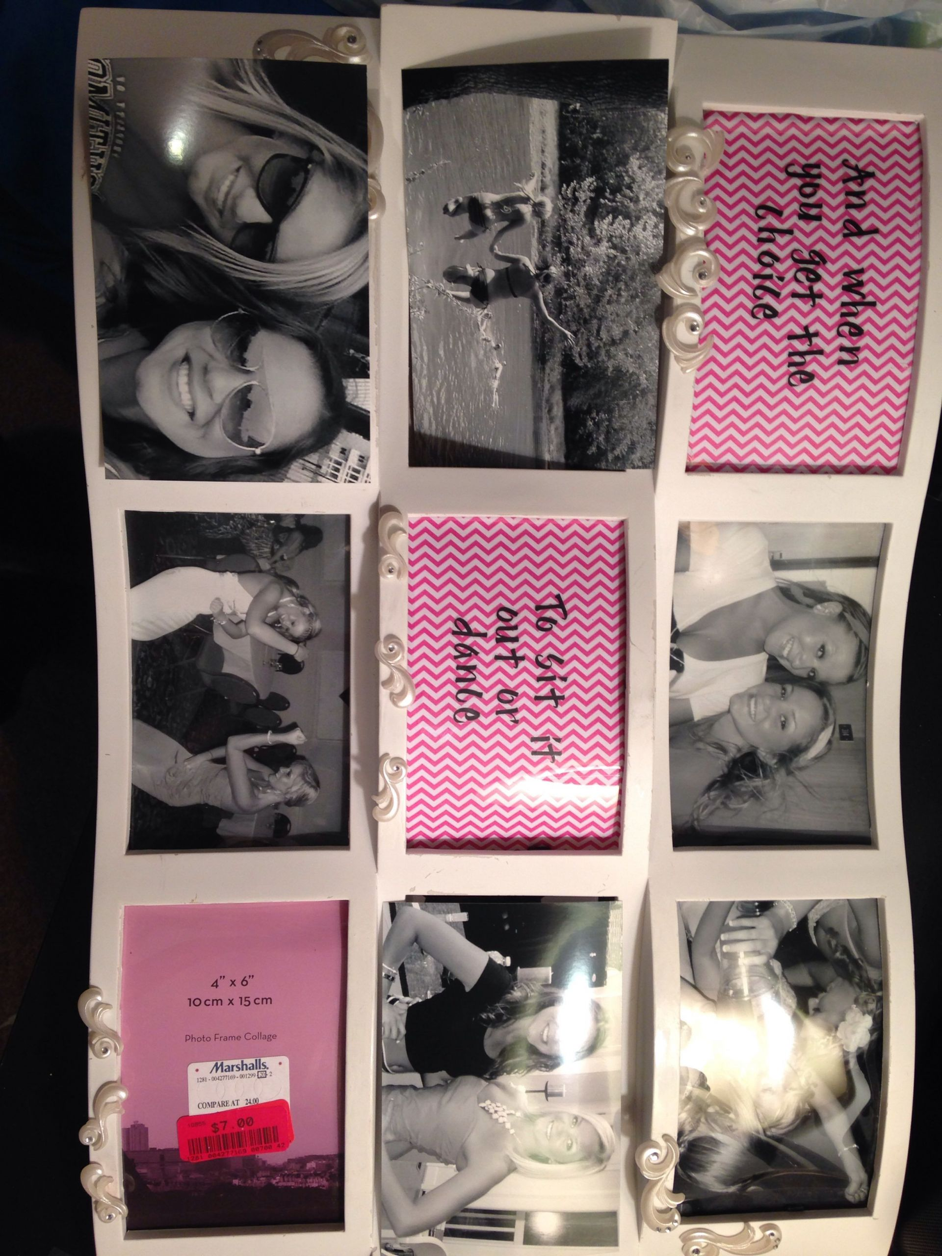 Friends Graduation Gift Ideas  DIY picture frame collage graduation t to my best
