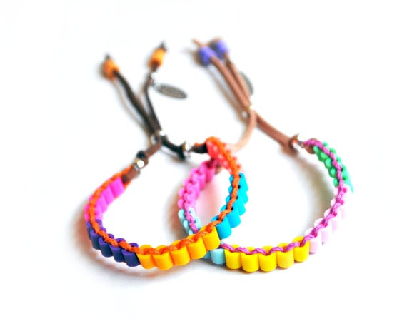 Friendship Bracelets With Beads  Colorblock Beads Friendship Bracelets Colorful Bracelets for