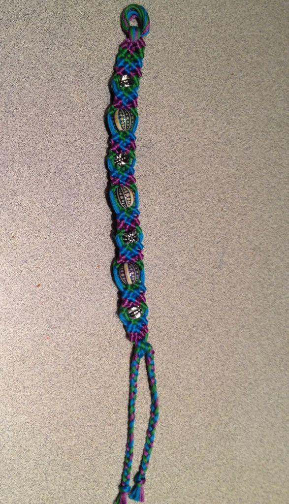 Friendship Bracelets With Beads  Beads and Knots Friendship Bracelet 10 Steps Instructables