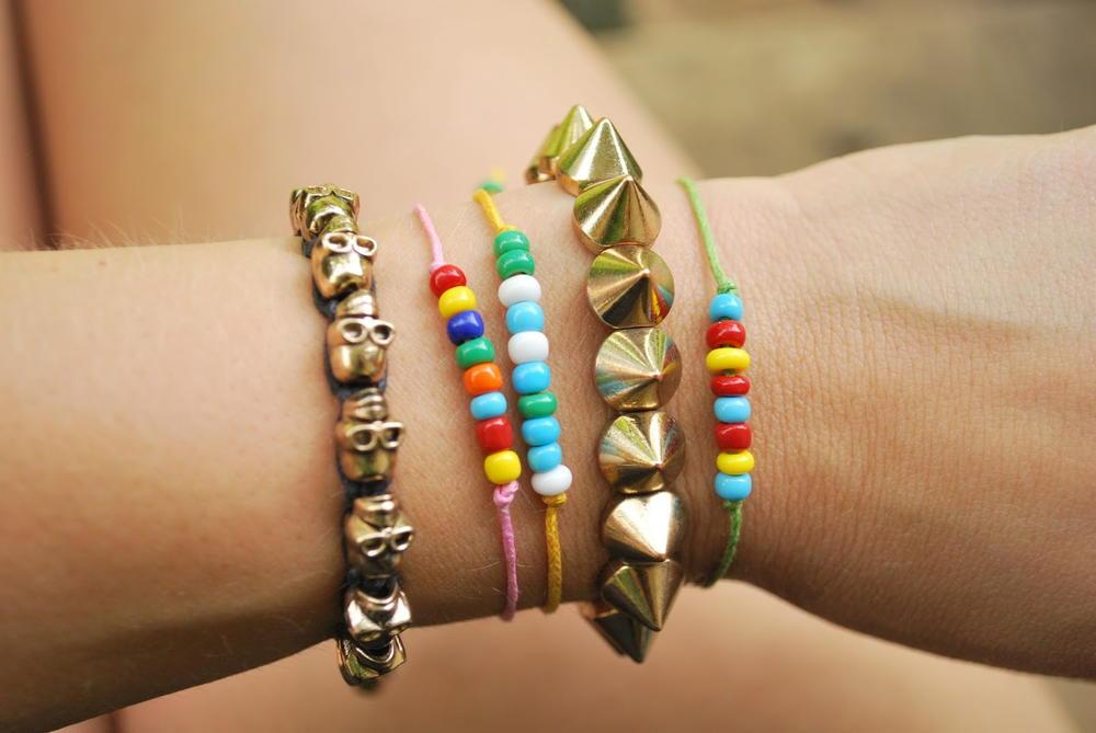 Friendship Bracelets With Beads  Beaded Macrame Friendship Bracelet