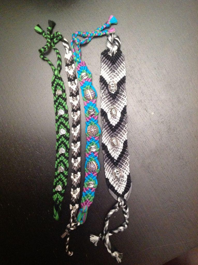 Friendship Bracelets With Beads  Beads and Knots Friendship Bracelet 10 Steps