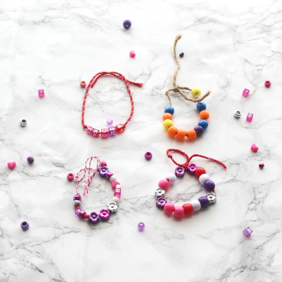 Friendship Bracelets With Beads  Beaded Bracelets and Necklaces for Kids – At Home With Zan