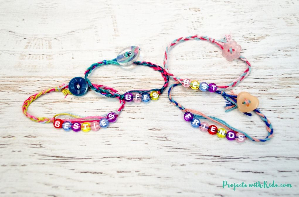 Friendship Bracelets With Beads  Easy Braided Friendship Bracelets with Letter Beads