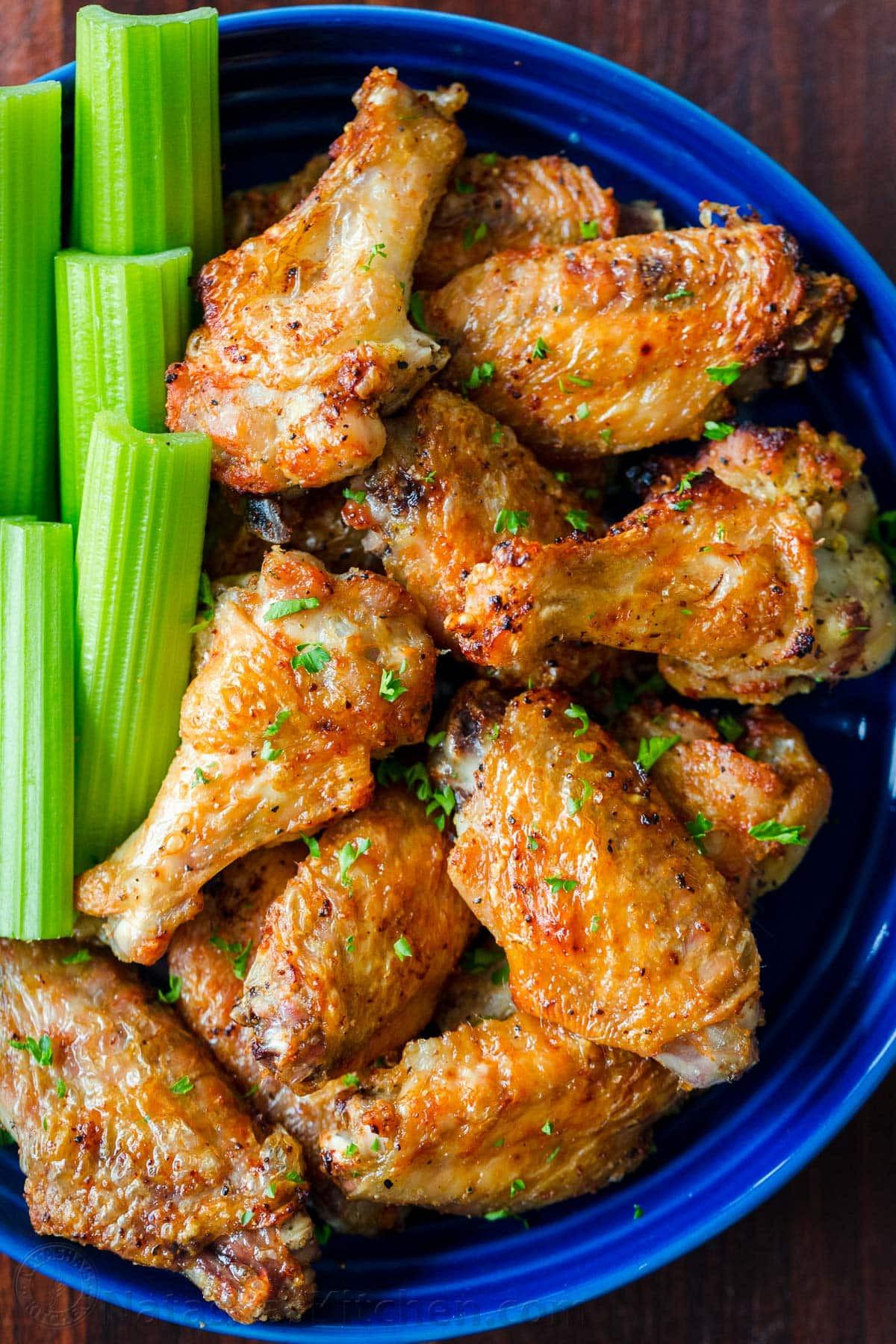 Frozen Chicken Wings In Airfryer  Air Fryer Chicken Wings Extra Crispy NatashasKitchen