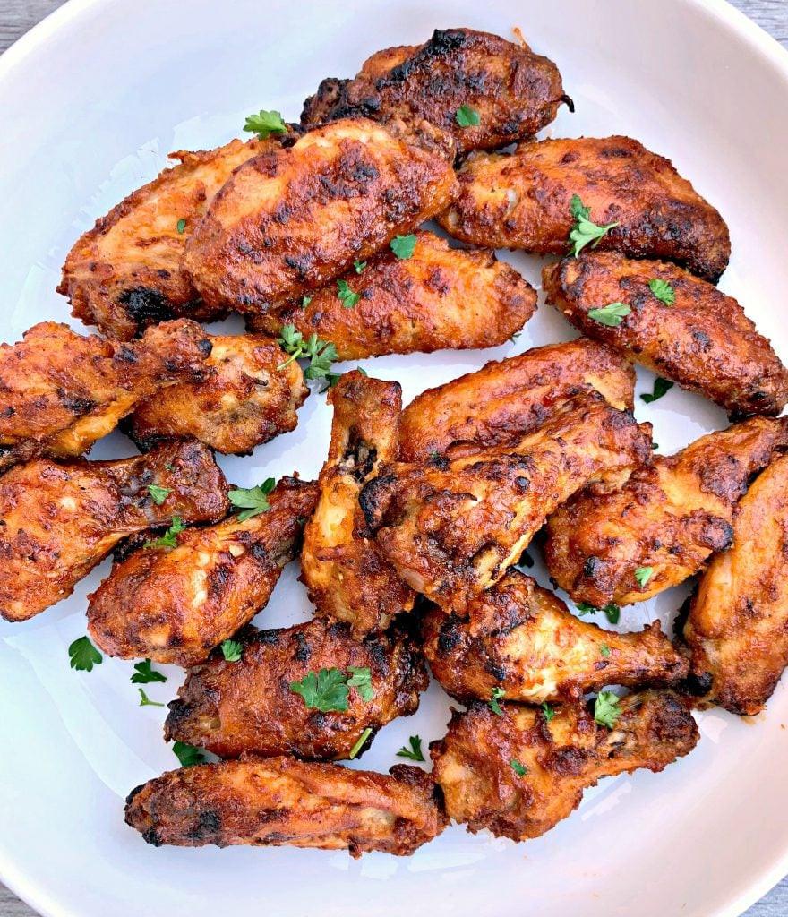 Frozen Chicken Wings In Airfryer  Air Fryer Breaded Honey BBQ Fried Chicken Wings VIDEO