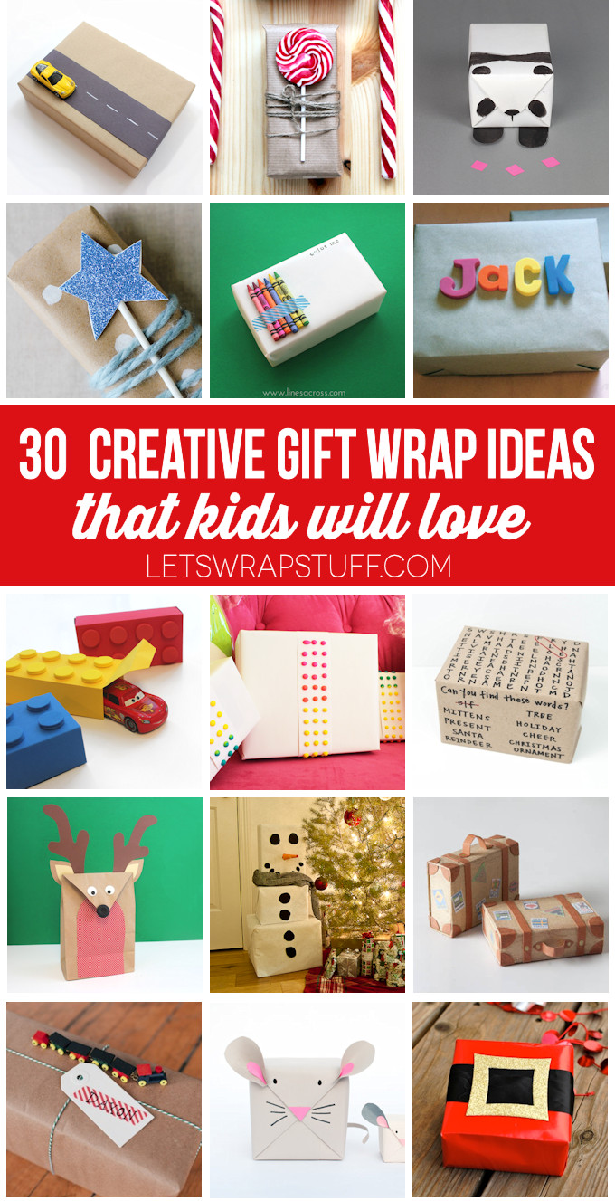 Fun Gift Ideas For Kids  30 Creative Gift Wrap Ideas for Kids Lines Across