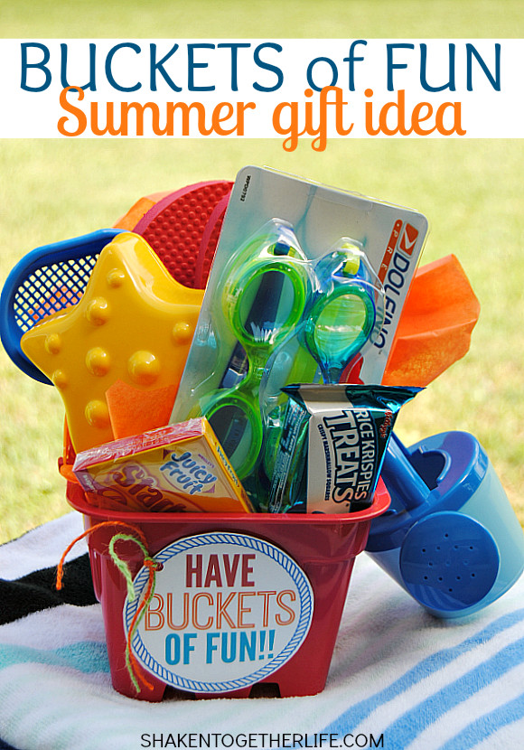 Fun Gift Ideas For Kids  Buckets of Fun Summer Gift