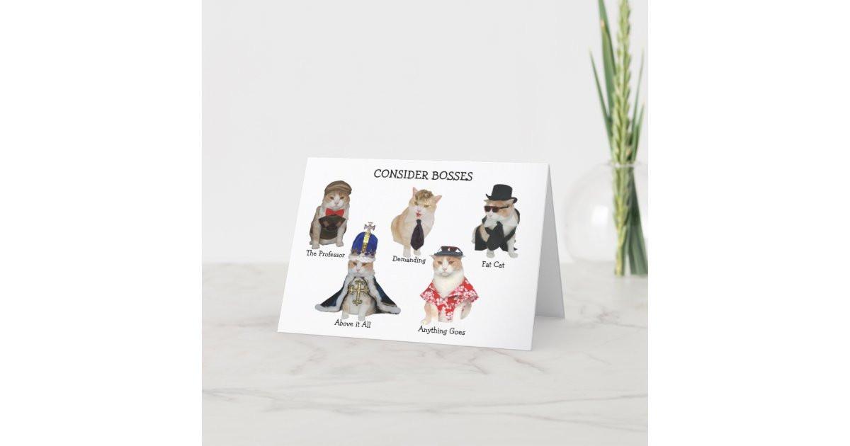 Funny Boss Birthday Cards  Funny Boss Birthday Card