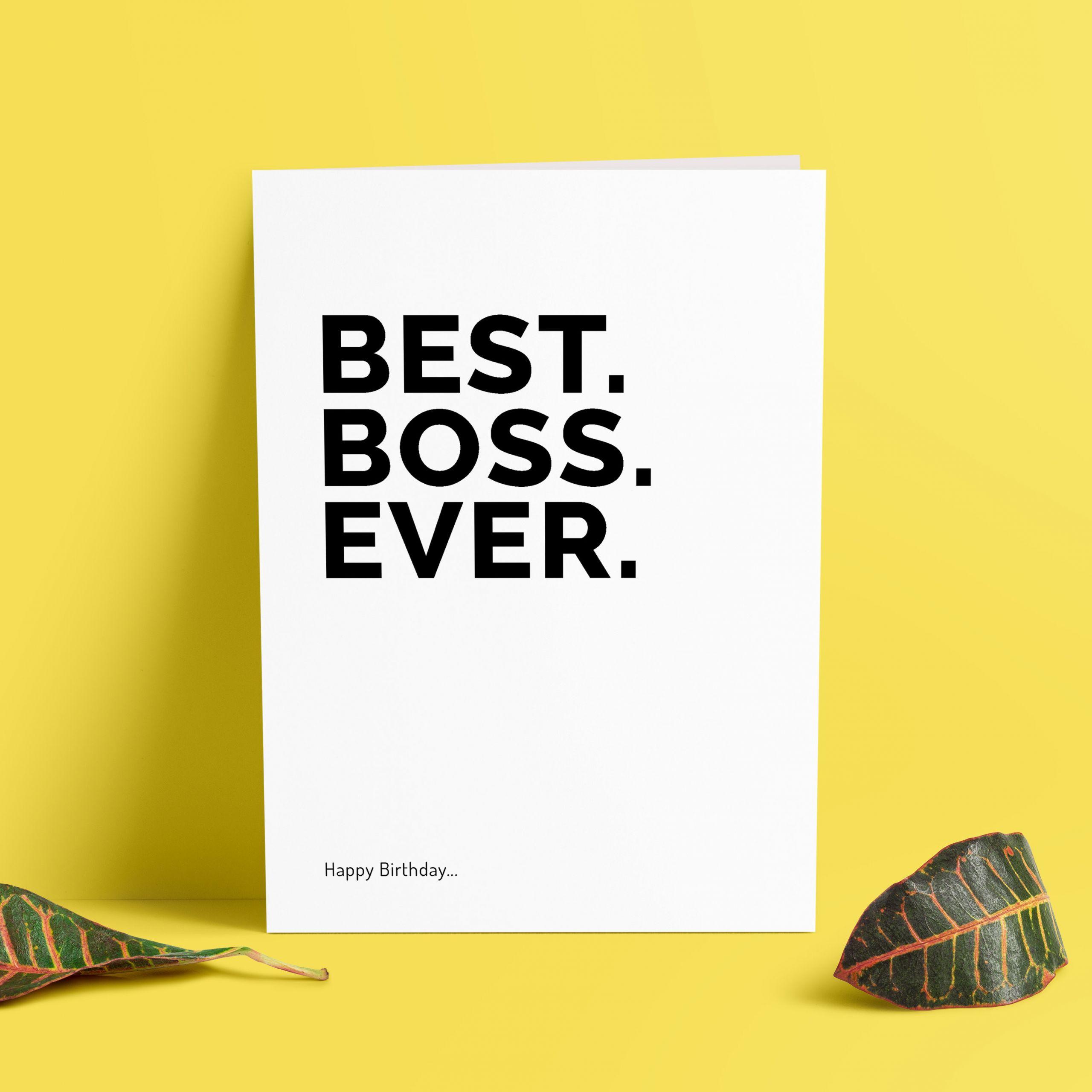Funny Boss Birthday Cards  Funny Boss Birthday Cards Best Boss Ever Boss Birthday