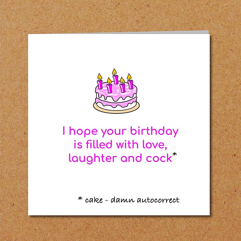 Funny Sexy Birthday Cards  BIRTHDAY CAKE card funny humorous girl female friend rude