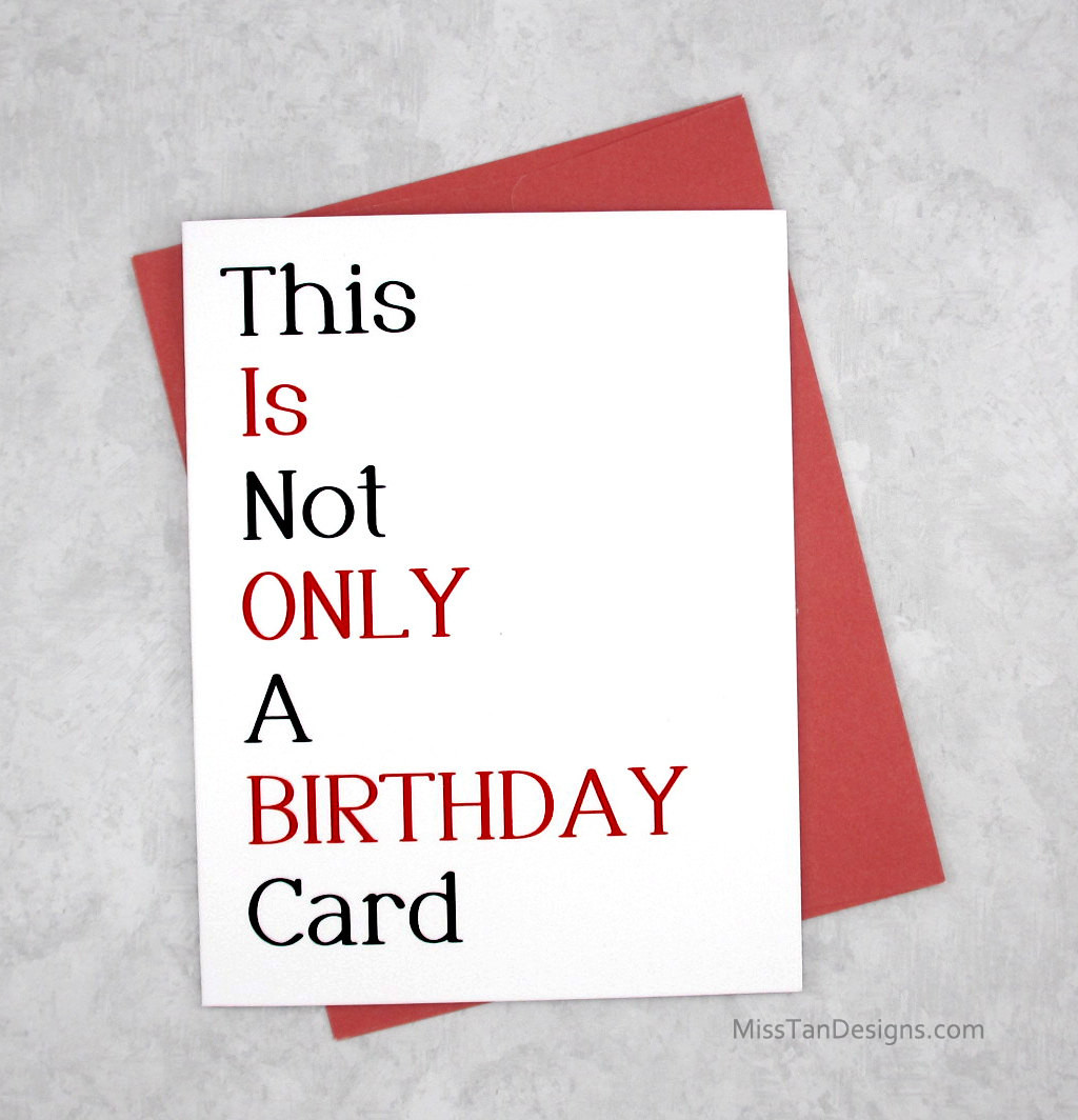 Funny Sexy Birthday Cards  Boyfriend Birthday Cards Not ly Funny Gift y Card