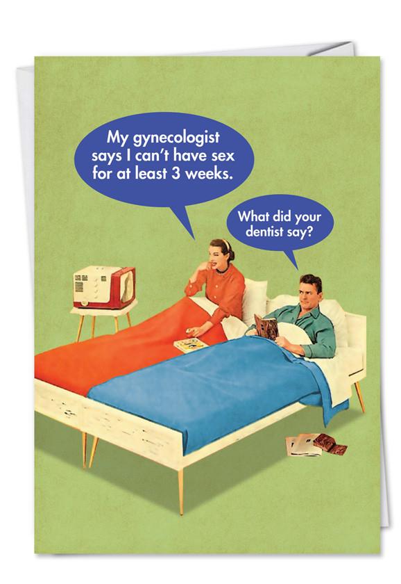 Funny Sexy Birthday Cards  Dentist Funny y Birthday Card NobleWorks