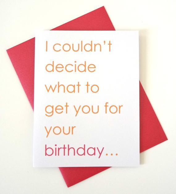 Funny Sexy Birthday Cards  Funny birthday card for boyfriend husband wife