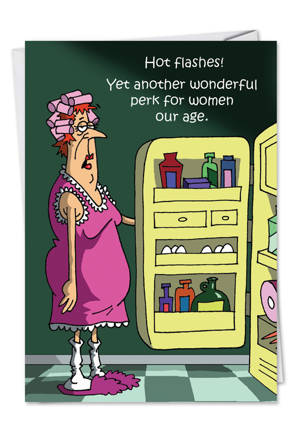 Funny Sexy Birthday Cards  Hot Flash Funny Birthday Greeting Card Nobleworks