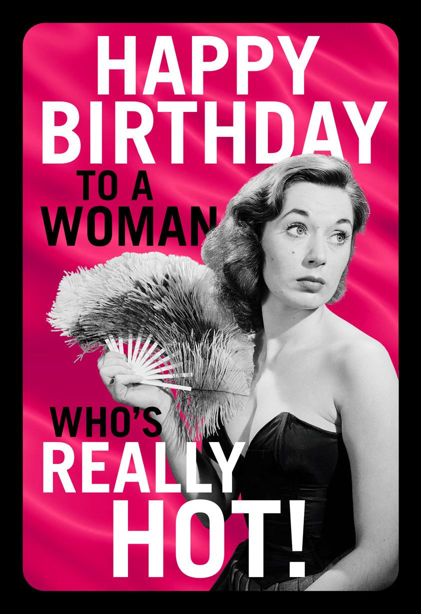 Funny Sexy Birthday Cards  Really Hot Funny Birthday Card for Her Greeting Cards