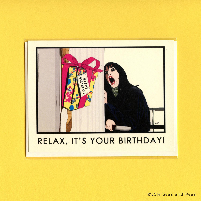 Funny Sexy Birthday Cards  THE SHINING BIRTHDAY Card The Shining Funny by seasandpeas