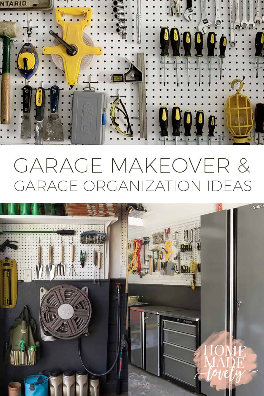 Garage Organization Ideas  Father s Day Garage Makeover Garage Organization Ideas