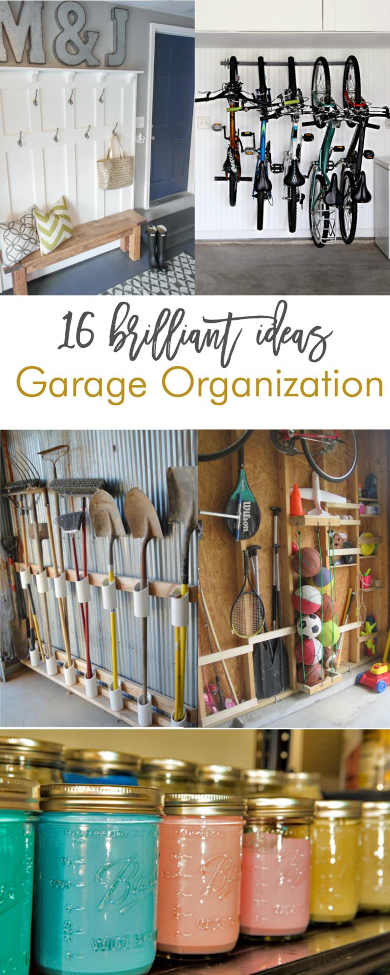 Garage Organization Ideas  16 Brilliant DIY Garage Organization Ideas