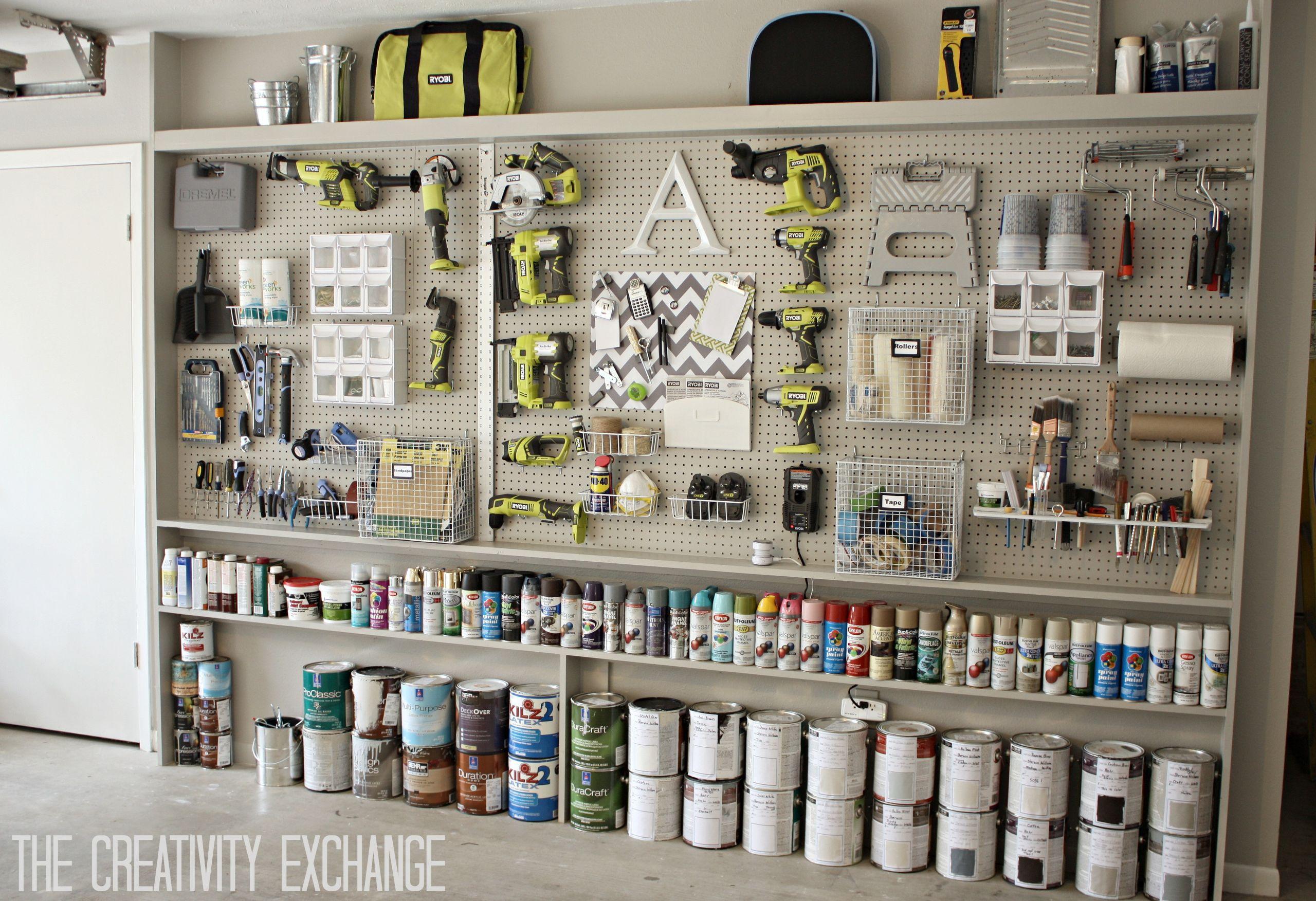 Garage Organization Ideas  Organizing the Garage with DIY Pegboard Storage Wall