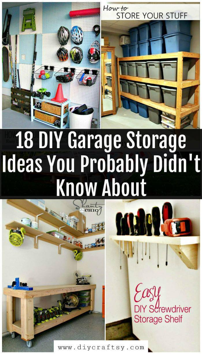 Garage Organizer Ideas Diy  18 DIY Garage Storage Ideas You Probably Didn t Know About