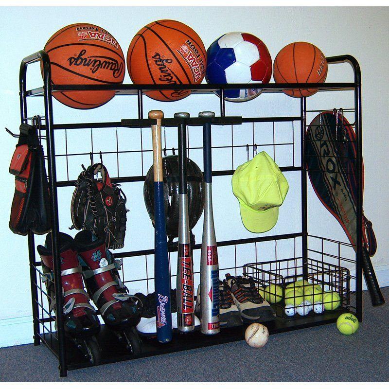 Garage Sport Organizer  Have to have it JJ International Sports Organizer Storage