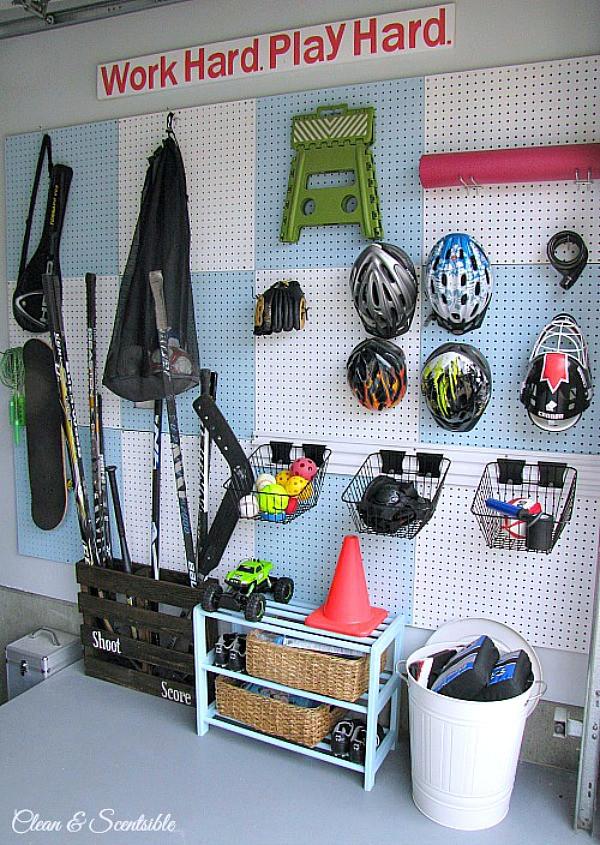 Garage Sport Organizer  How to Clean and Organize the Garage