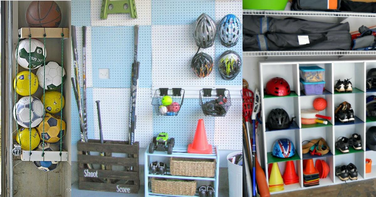 Garage Sport Organizer  6 Amazing Sports Equipment Storage Ideas That Will Blow