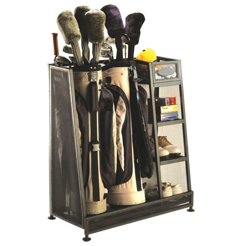 Garage Sport Organizer  Suncast 17 5 in x 32 in Golf Organizer GO3216D The
