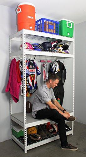 Garage Sport Organizer  SafeRacks Sports Equipment Storage Rack Shelving 2 D x 4 W