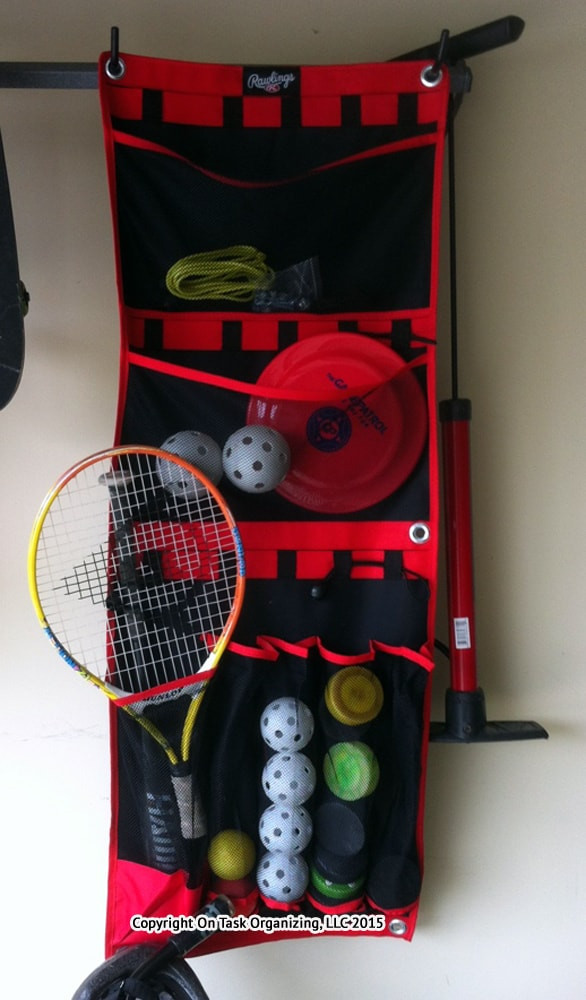 Garage Sports Organizer  Storing Sports Equipment