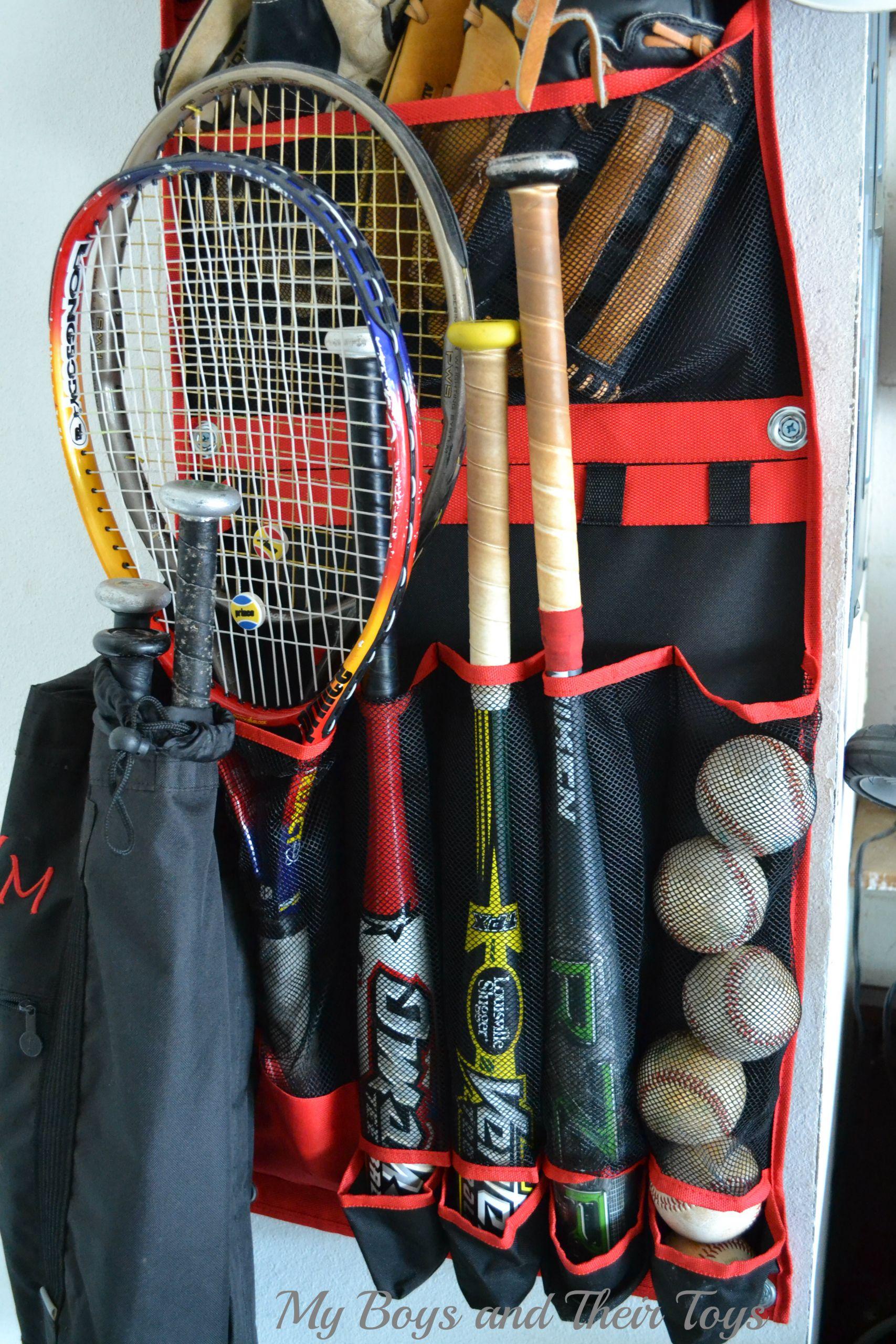 Garage Sports Organizer  Rawlings Vertical Sports Organizer Review & Sponsored Giveaway