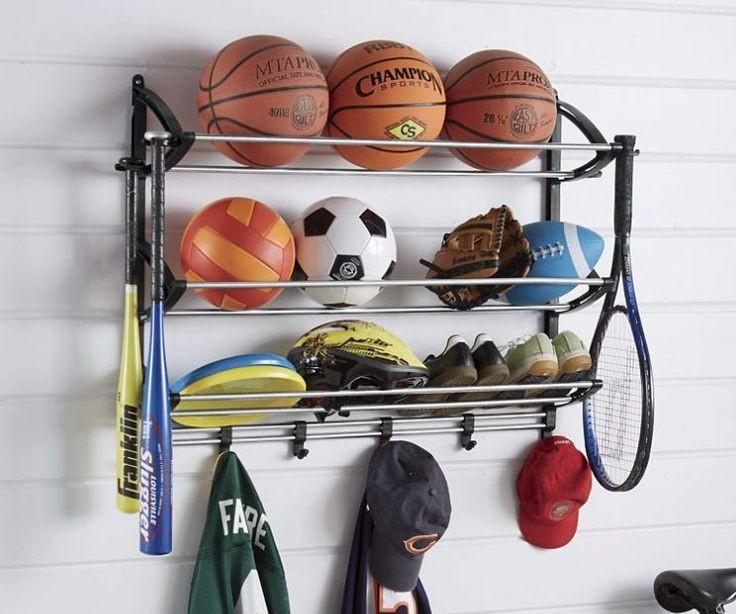 Garage Sports Organizer  Sports Storage Organizer Racks Station Gear Equipment