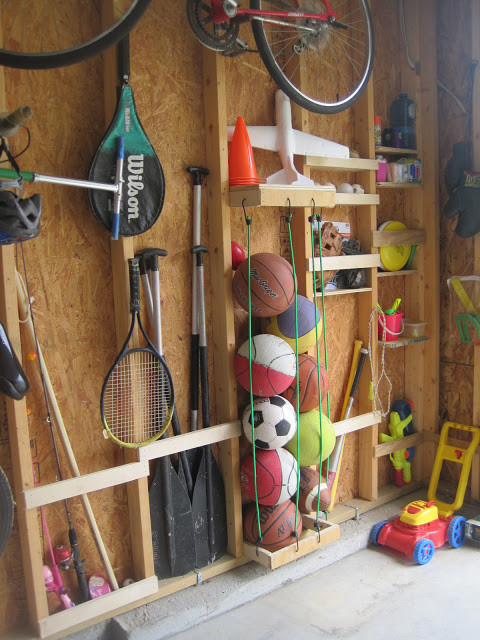 Garage Sports Organizer  Awesome DIY Garage Organization Ideas landeelu
