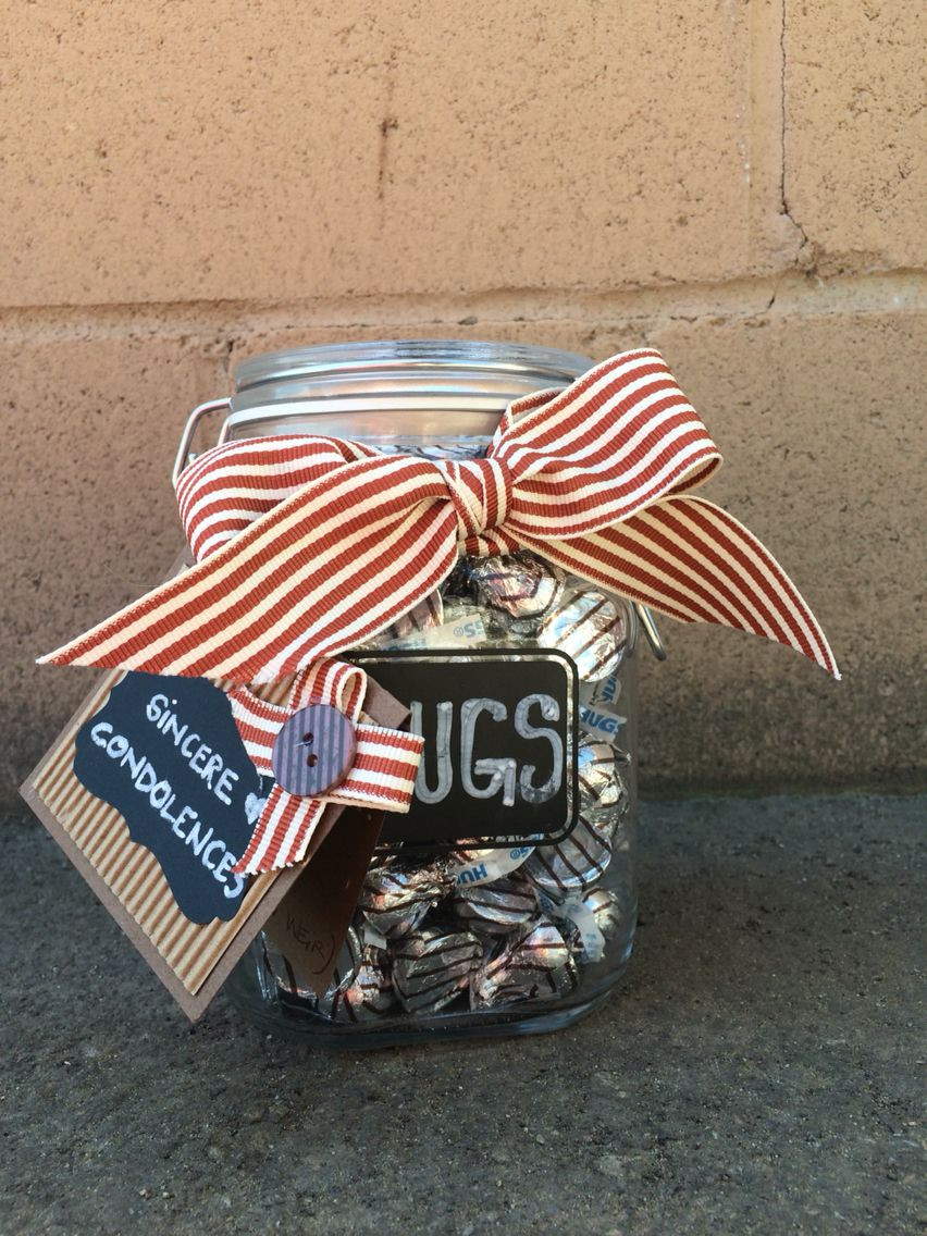 Gift Basket Ideas For Death In Family  Condolence t jar of hugs pleted