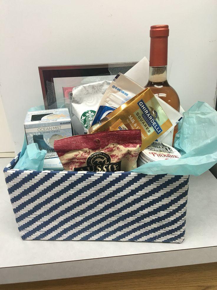 Gift Basket Ideas For Death In Family  Sympathy basket idea DiY Includes Wine bottle coffee