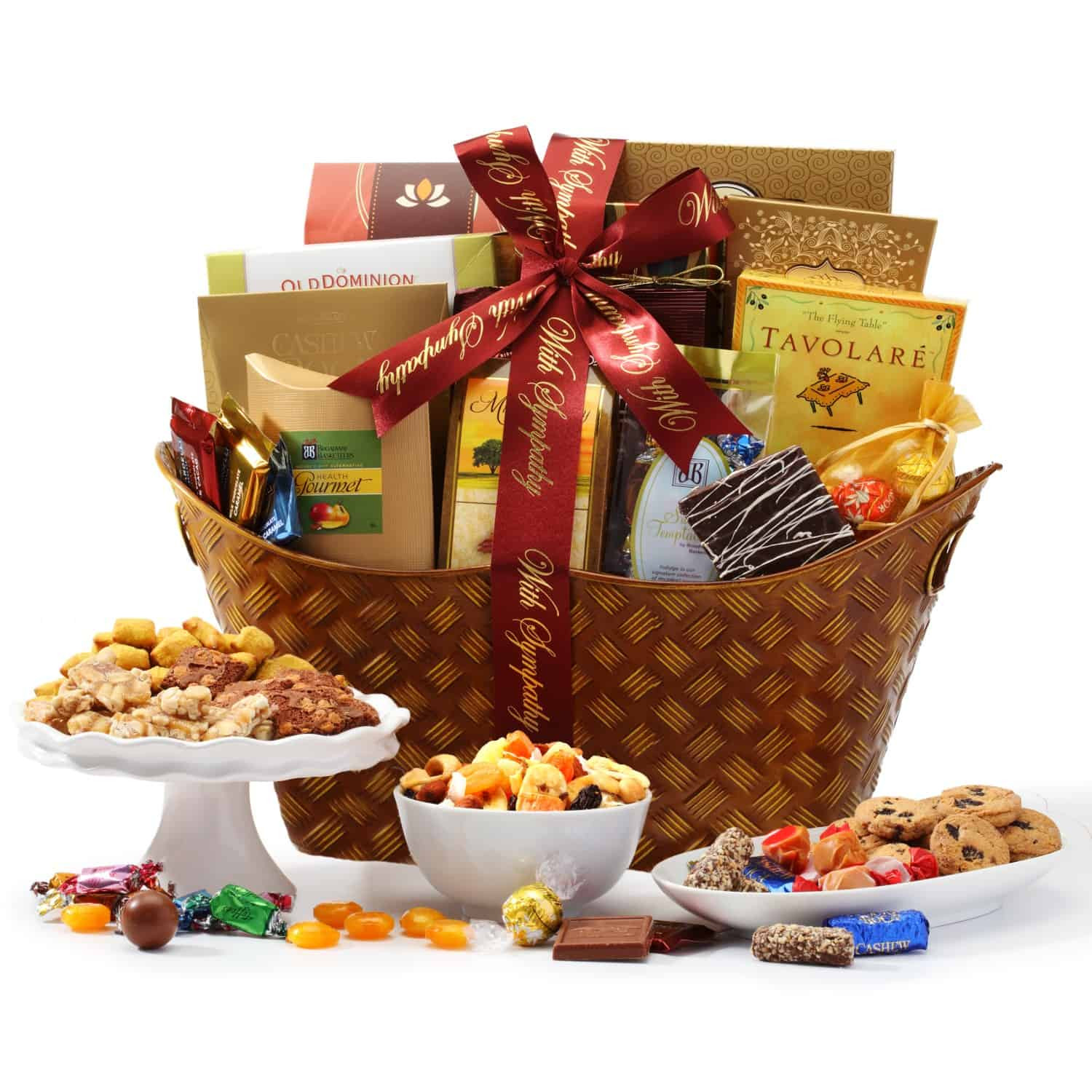 Gift Basket Ideas For Death In Family  With Sympathy Classic Gift Basket by BroadwayBasketeers