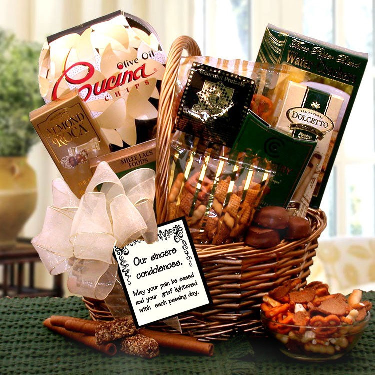 Gift Basket Ideas For Death In Family  Our Sincerest Condolences Gift Basket