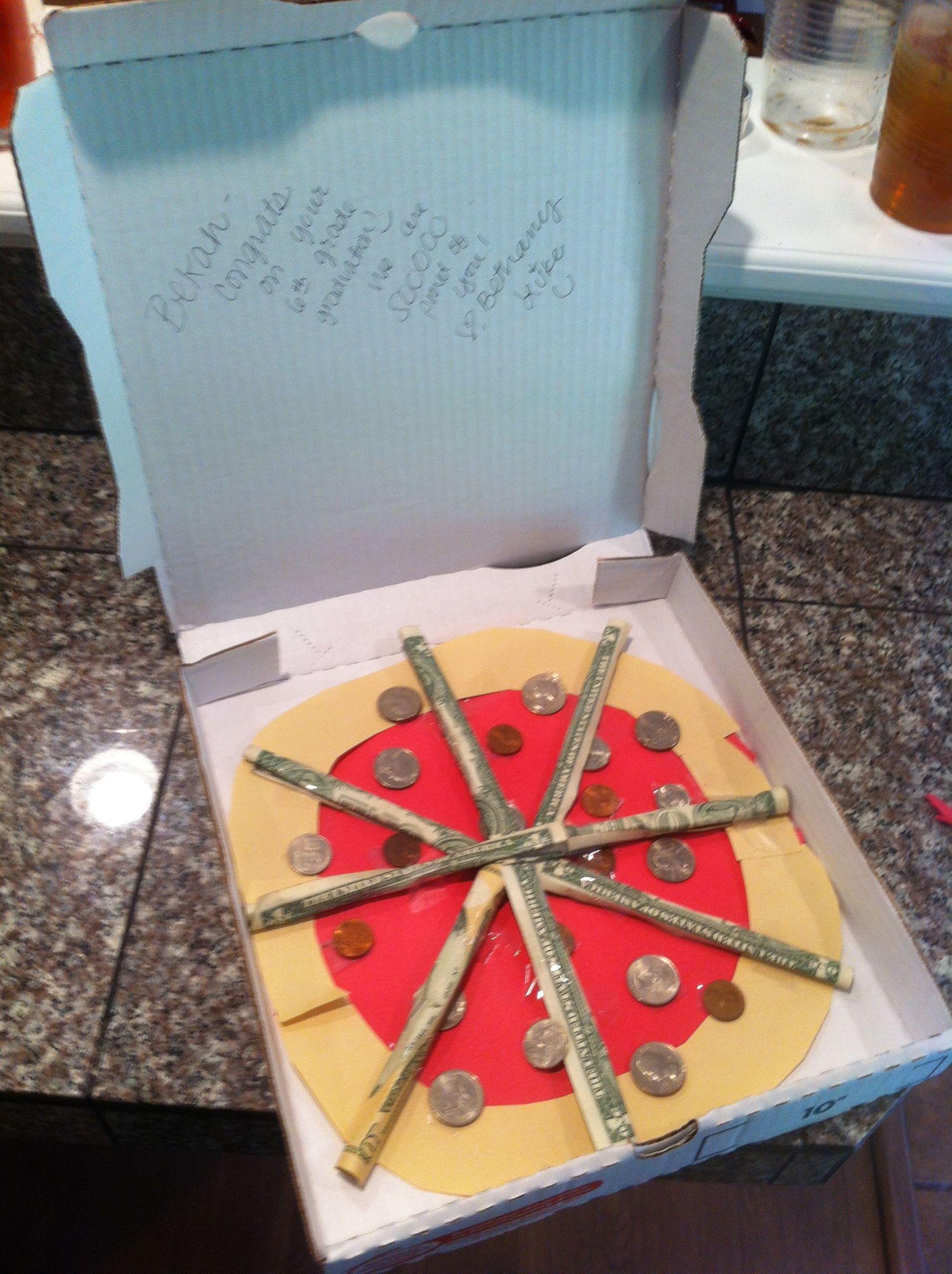 Gift Ideas For 8Th Grade Graduation  pizza money t for bekah s 6th grade graduation