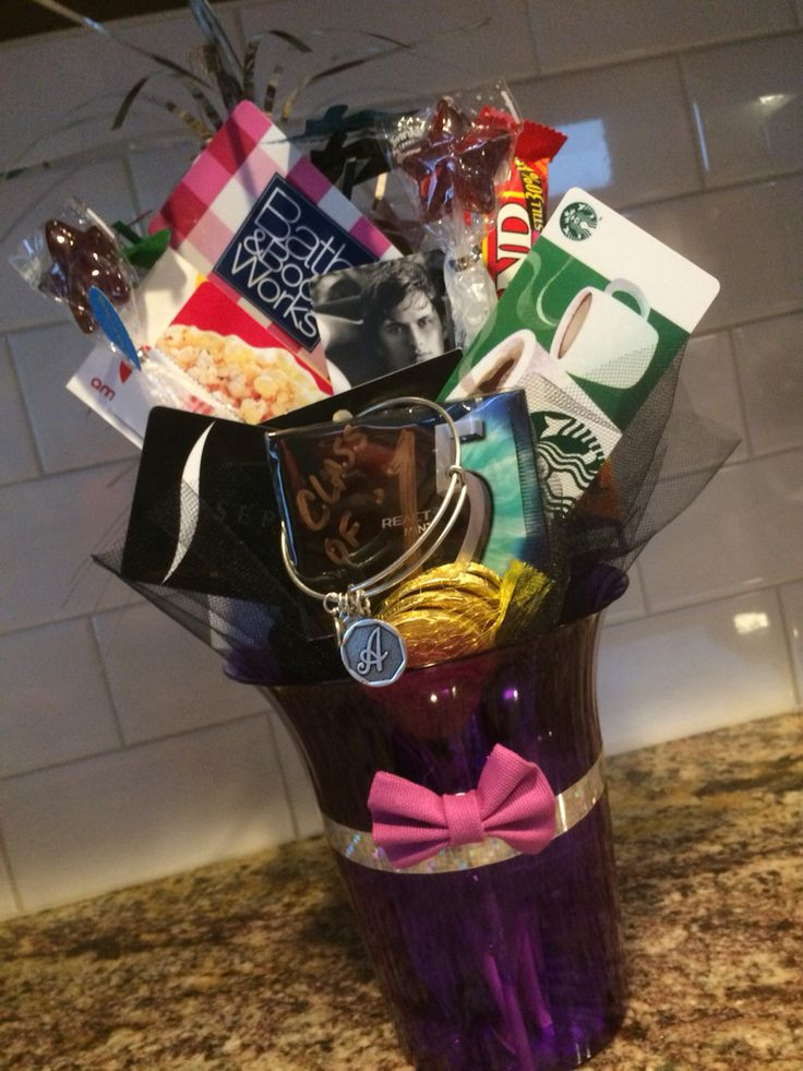 Gift Ideas For 8Th Grade Graduation  8th grade girl graduation t card bouquet Used colors