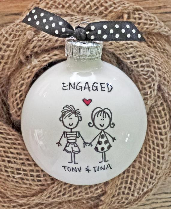 Gift Ideas For Engaged Couples  Engaged Engagement Gift Engagement Personalized by
