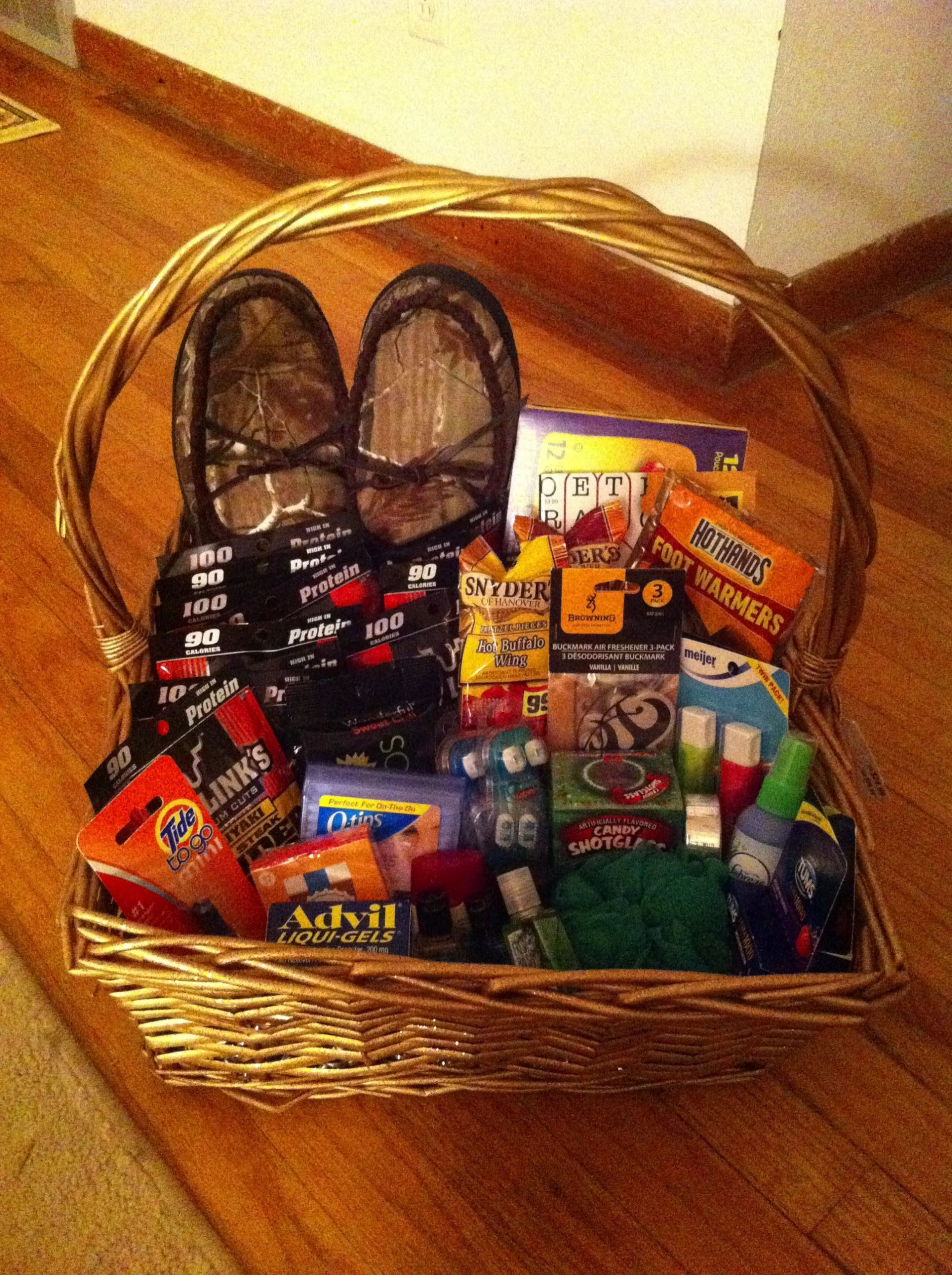 Gift Ideas For Traveling Boyfriend  t basket for a truck driver or boyfriend all the