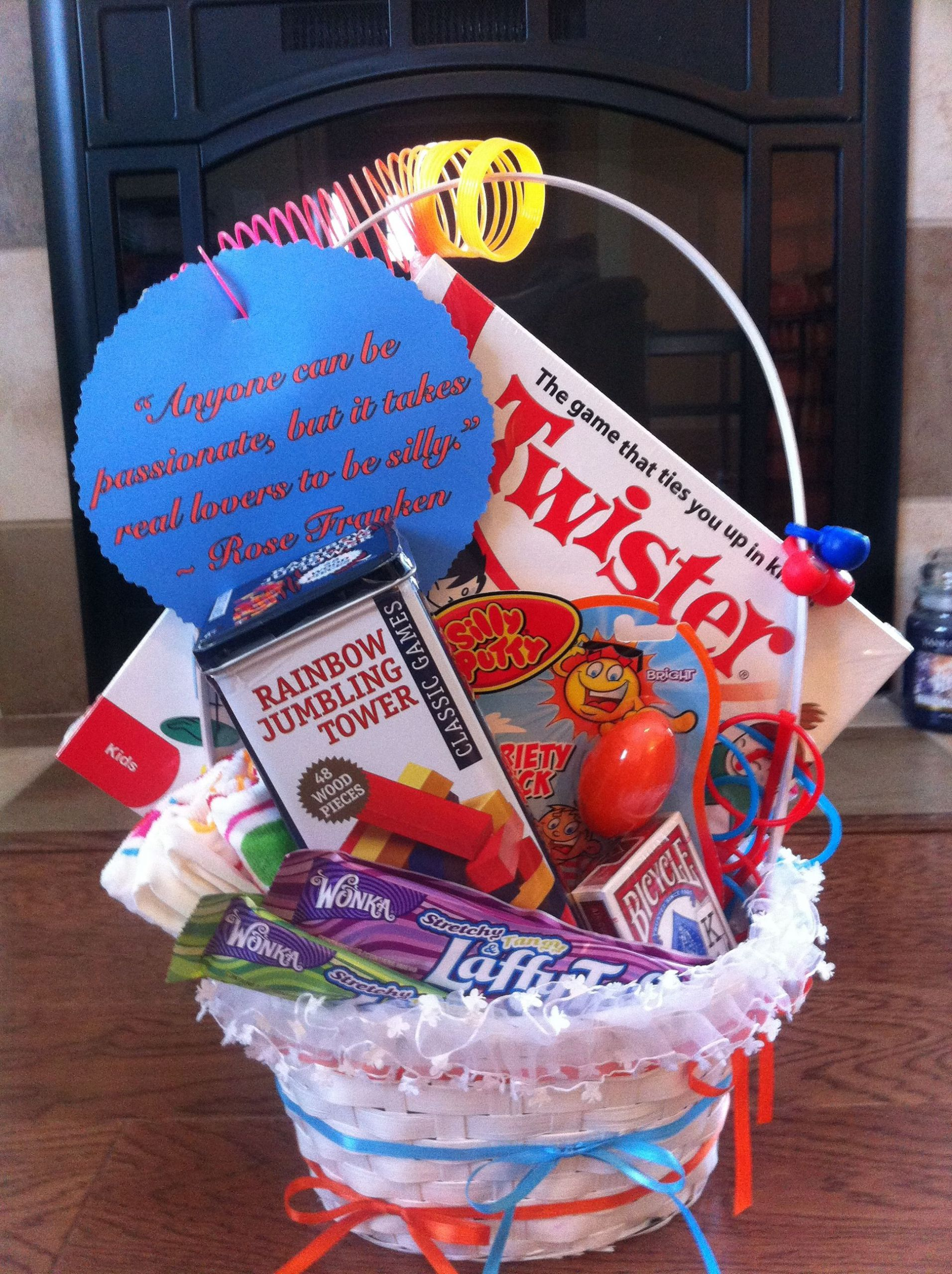 Gift Ideas For Young Couple  My first attempt at a personalized t basket for a young