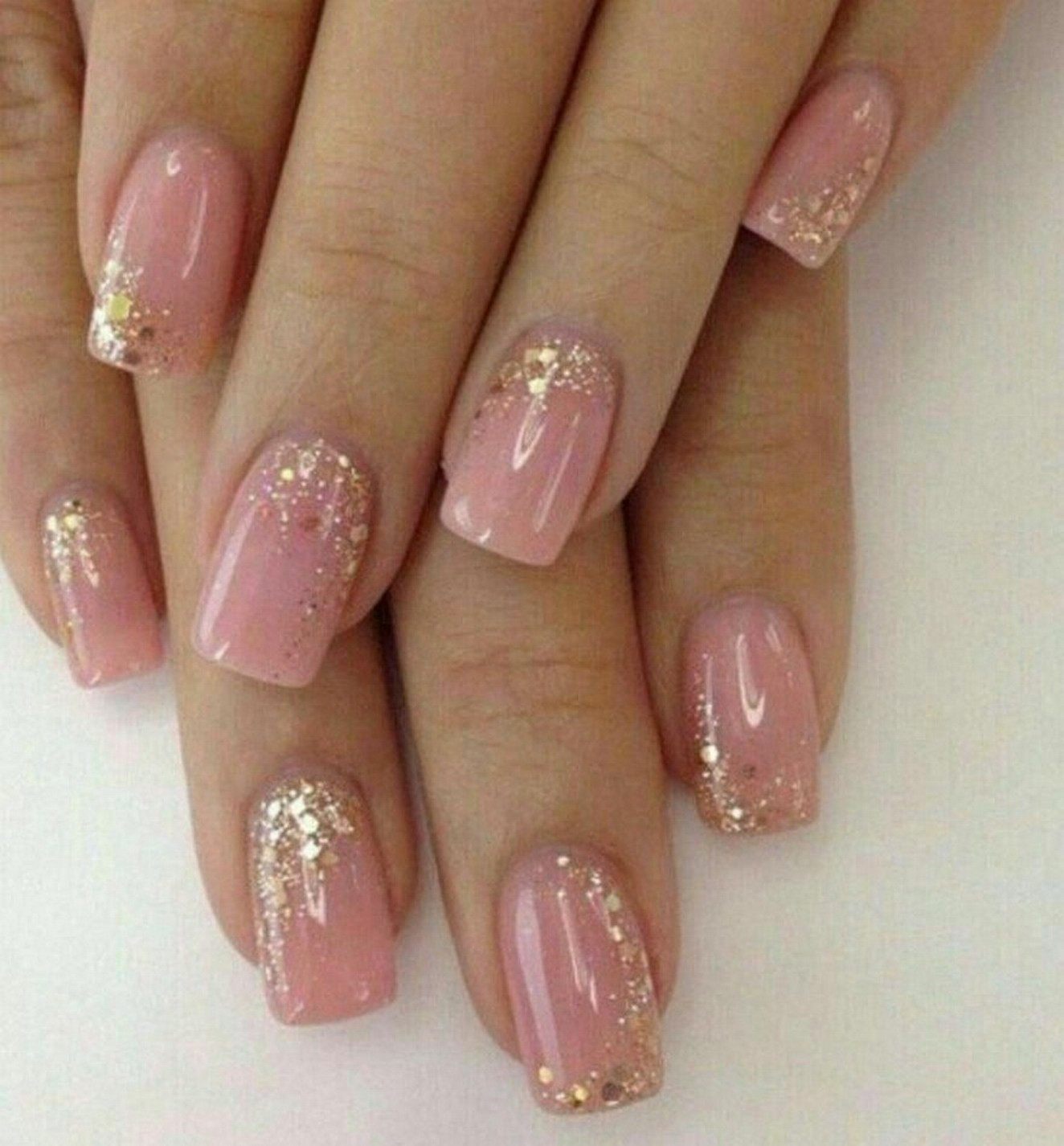 Glitter Nail Designs For Short Nails  56 Glitter Gel Nail Designs For Short Nails For Spring