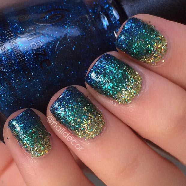 Glitter Nail Designs For Short Nails  80 Nail Designs for Short Nails